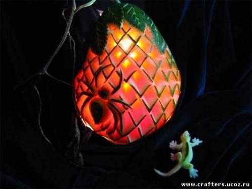 Карвинг по овощам и фруктам своими руками детские поделки дома из подручных материалов
