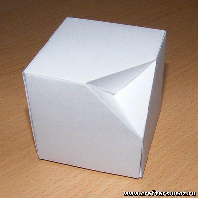 Как сделать кубик из бумаги и ножниц и клея