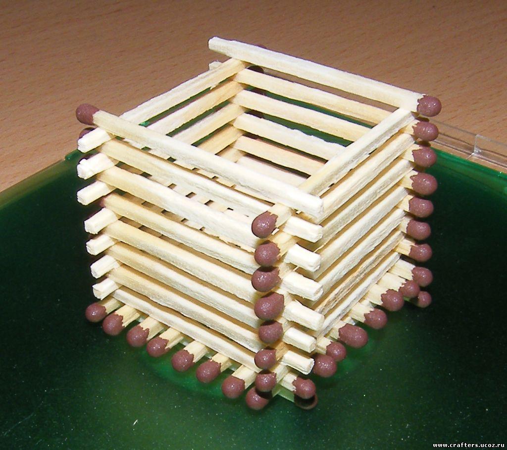 Как из спичек сделать домик